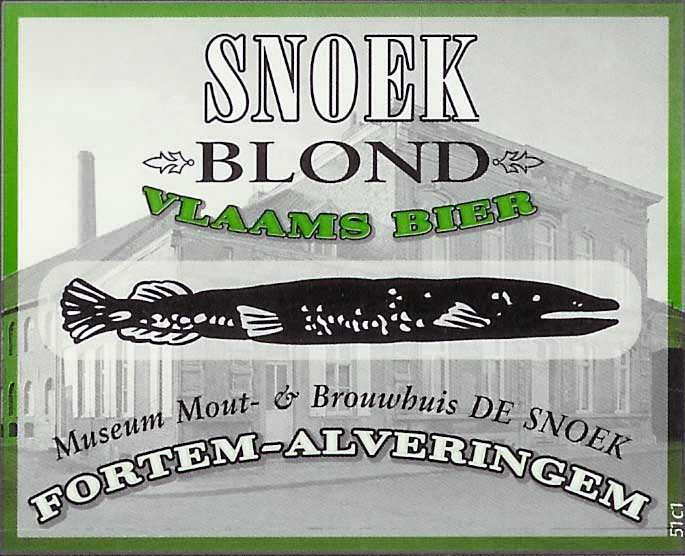 Snoek Blond label