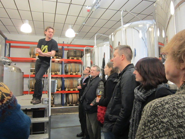Davy at Alvinne Brewery Tour February 2013