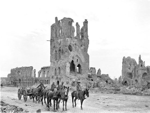 Ypres destroyed in the war...